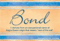 Name Bond