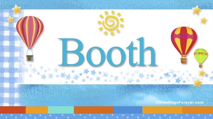 Booth, imagen de Booth