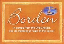 Name Borden