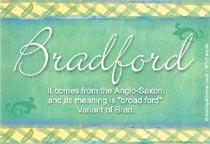 Name Bradford