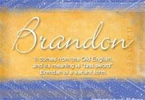 Name Brandon
