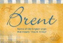 Name Brent