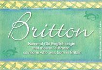 Name Britton