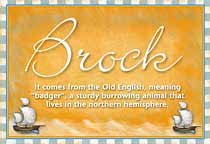 Name Brock