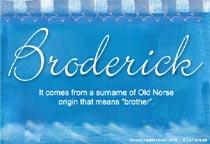 Name Broderick
