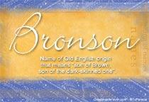 Name Bronson