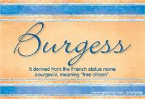 Name Burgess