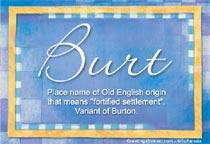 Name Burt