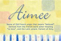Name Aimee