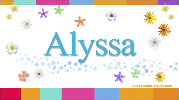 Alyssa, imagen de Alyssa