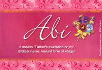 Name Abi