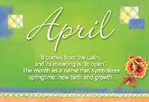 Name April