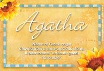 Name Agatha