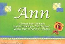 Name Ann