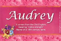 Name Audrey