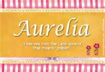 Name Aurelia