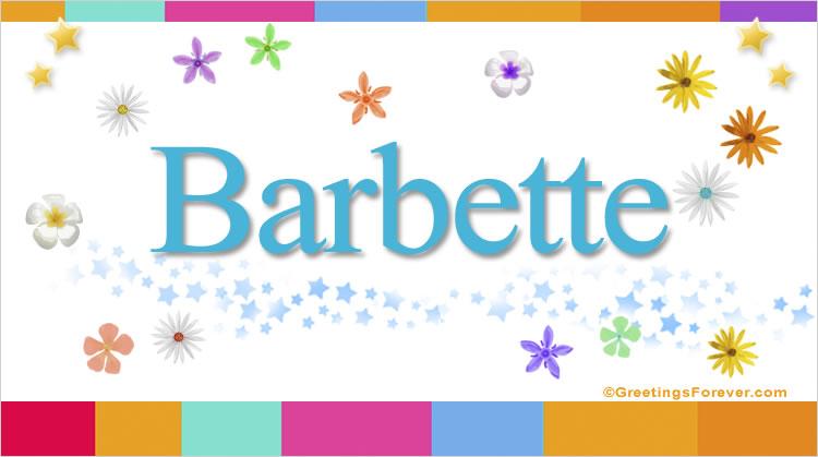 Barbette, imagen de Barbette