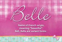 Name Belle
