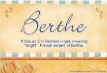 Name Berthe