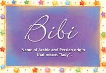 Name Bibi
