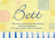 Name Bett