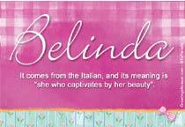 Name Belinda