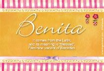 Name Benita