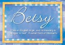 Name Betsy