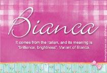 Name Bianca