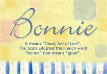 Name Bonnie