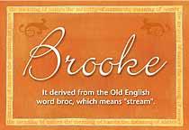 Name Brooke