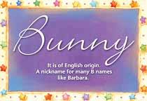 Name Bunny