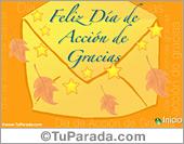 Tarjetas postales: Día de Acción de Gracias