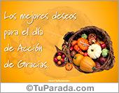 Tarjetas postales: Tarjeta de Acción de Gracias