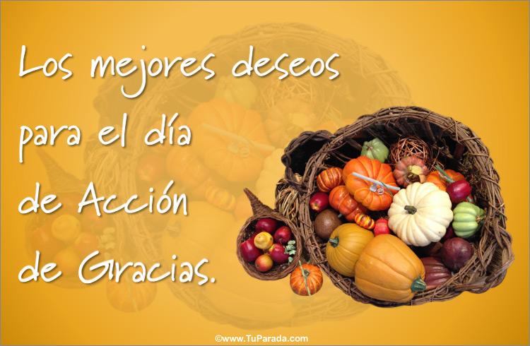 Tarjeta de Acción de Gracias - Día de Acción de Gracias, tarjetas