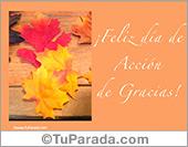 Tarjetas postales: Postal para el Día de Acción de Gracias