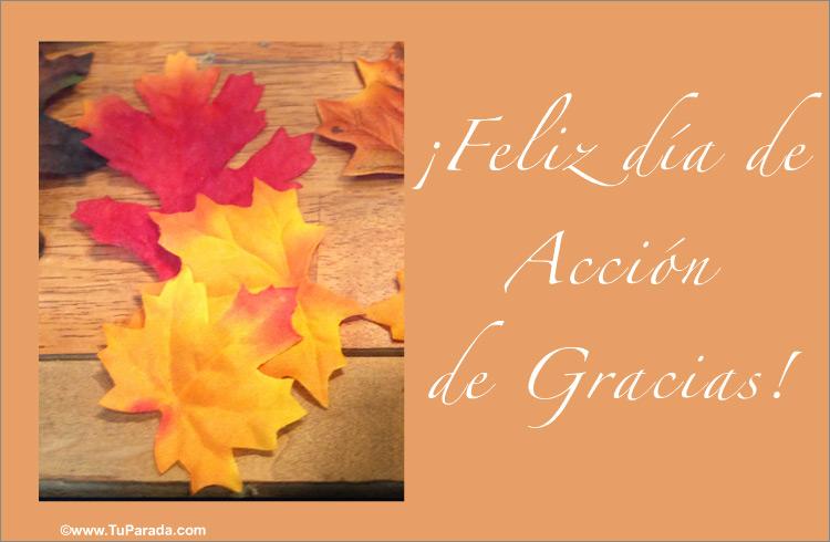 Tarjeta - Postal para el Día de Acción de Gracias