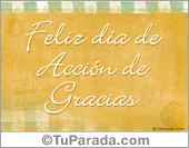 Tarjetas postales: Tarjeta de Acción de Gracias pastel