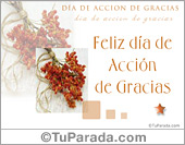 Tarjeta de Día de Acción de Gracias
