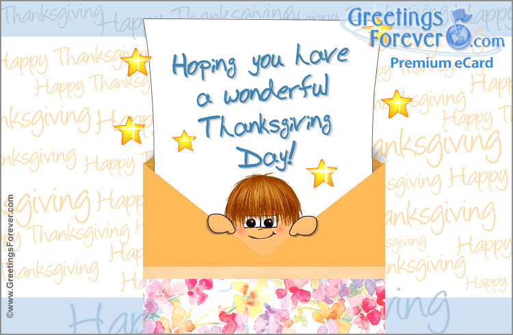 Ecard - Thanksgiving Day ecard