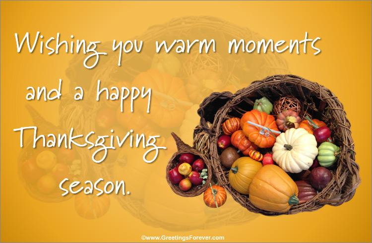 Ecard - A happy Thanksgiving season