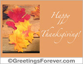 Thanksgiving egreeting