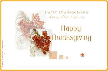 Happy Thanksgiving special ecard