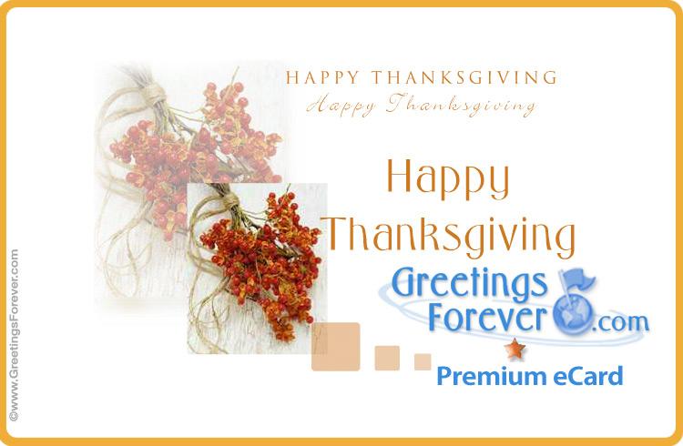 Ecard - Happy Thanksgiving special ecard