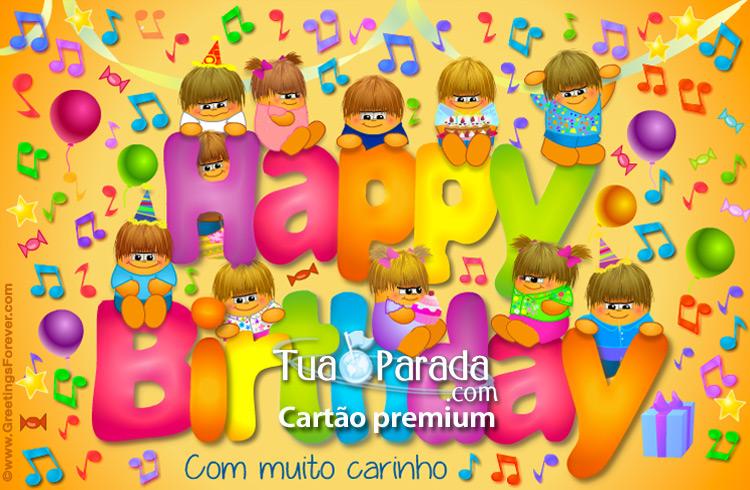 Cartão - Happy Birthday