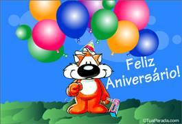 Feliz aniversário com balões