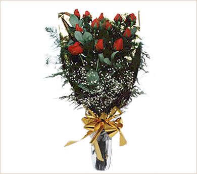 Media docena de rosas rojas