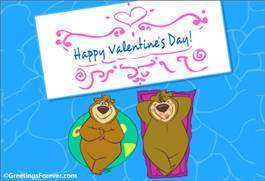 Happy Valentine's day in the pool