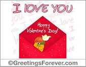 I love you in a red envelope
