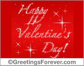 Happy Valentine's Day with stars